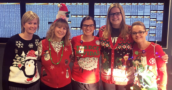 MBC staff show off their ugly sweaters