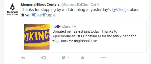 Donors get a special Vikings wrap ahead of the game