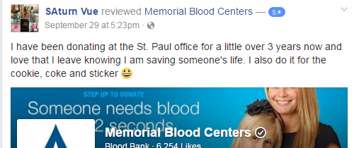 A great review from Facebook