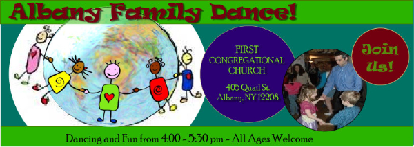 Delmar Family Dance bi-monthly at the Delmar Reformed Church, 386 Delaware Ave., Delmar, NY