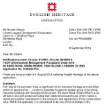 English Heritage re Swan Wharf