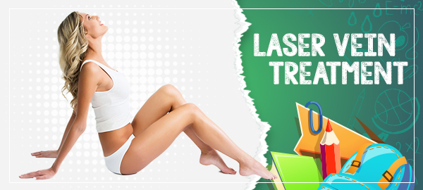 Remove those unwanted veins Save 15% on Laser Vein Treatment and Sclerotherapy