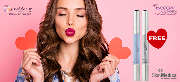 February 3, 2020 to February 7, 2020 Injectables: Save 20% on BOTOX®(Xeomin & Dysport 20% OFF)  Who Doesn't Want Kissable Lips!  Dermal Fillers: PurchaseJUVÉDERM® Ultra Plus XCorJUVÉDERM VOLBELLA® XCand receive a FREESkinMedica® HA5® Smooth and Plump Lip System! ($68 value)