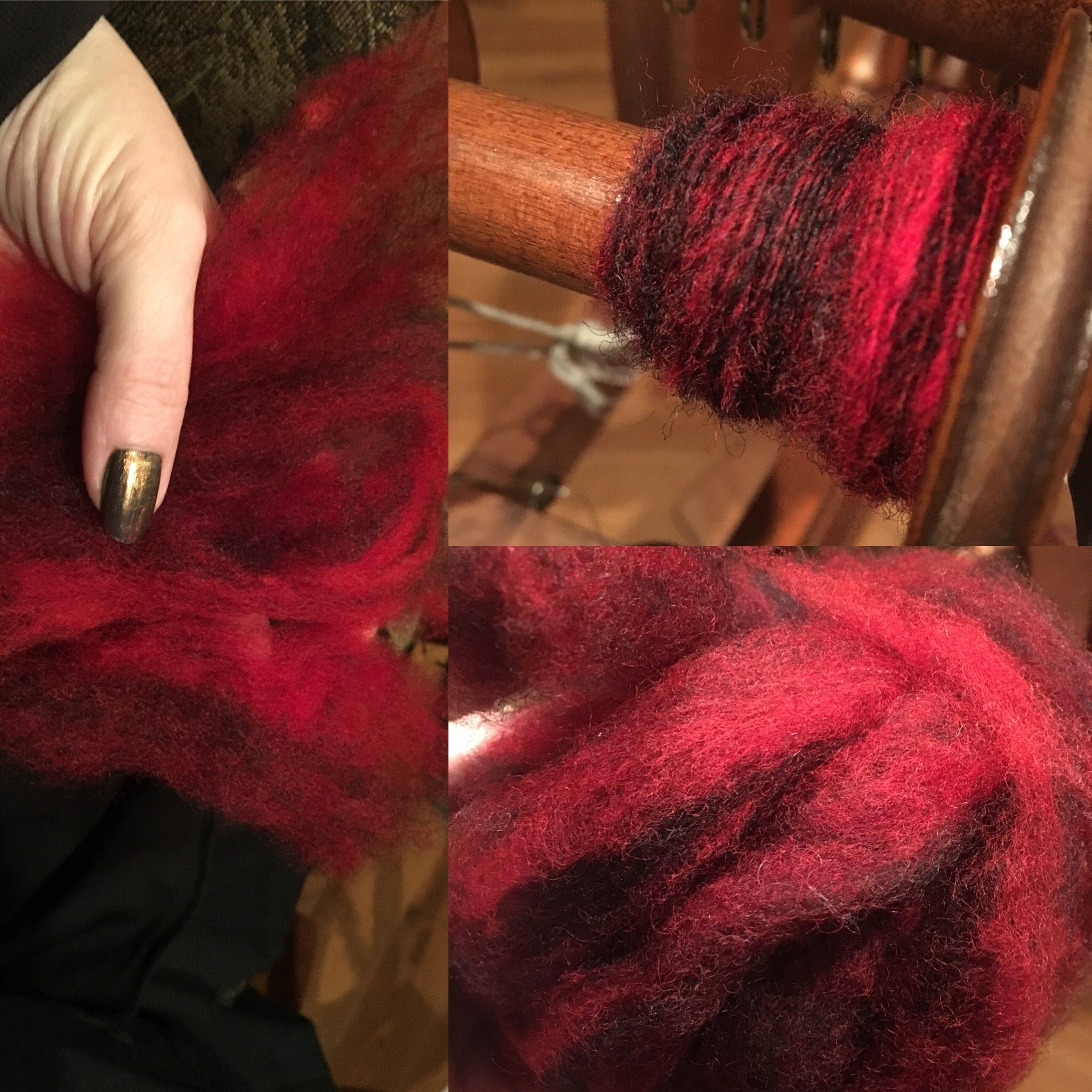 red and black roving