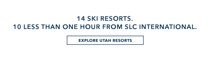14 ski resorts. 10 less than one hour from SLC international.