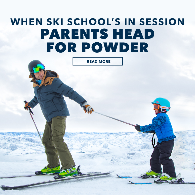 Please enable images to view: for browsers that might have them turned off. When Ski School's in Session, Parents Head for Powder