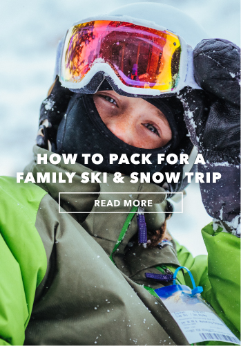 How to pack for a family ski and snow trip.