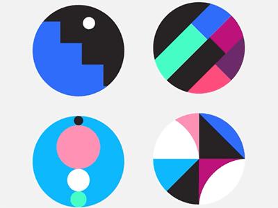 Abstract Sticker Set