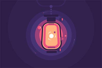 A glowing CSS lantern