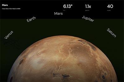 A circular planet picking menu