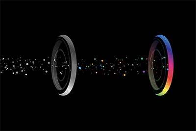 colour field with particles