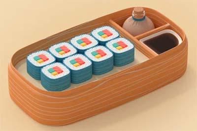 A cute sushi tray