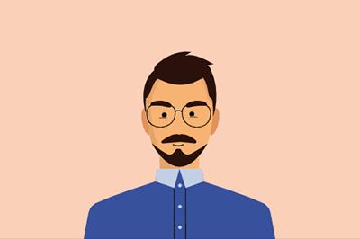 animated selfie illustration