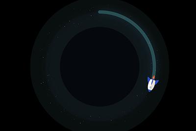 rocket ship and particle loader