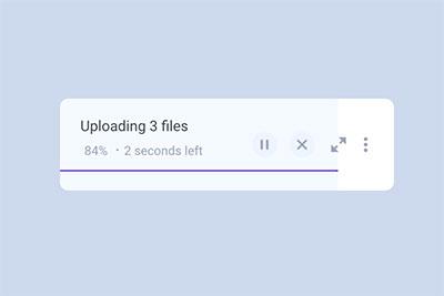 File upload animation