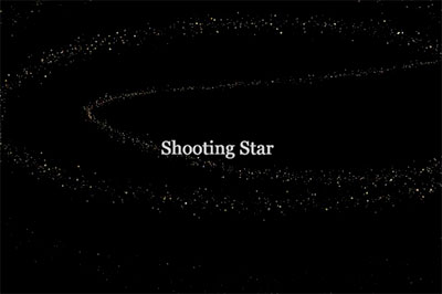 Interactive shooting star particles