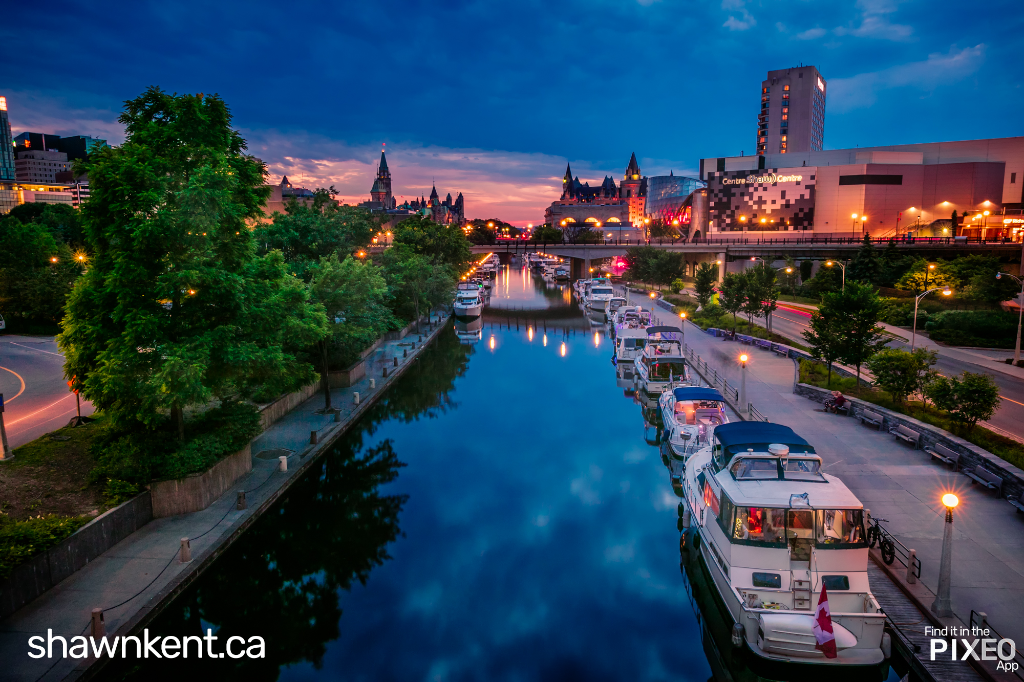 Rideau Canal Photo Location by Shawn M. Kent