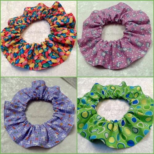 New Spring Easter Scrunchie Neck Ruffles by SewAmazin
