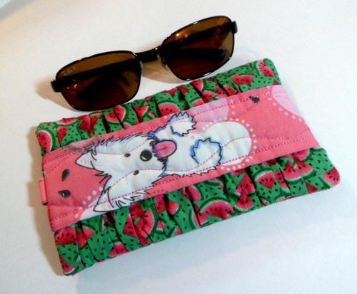 Watermelon Westie Sunglass Case