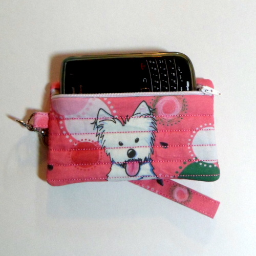 Watermelon Westie Cell Phone Case Wristlet