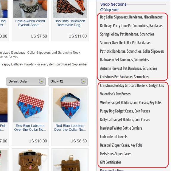 SewAmazin on ArtFire - Shop Sections