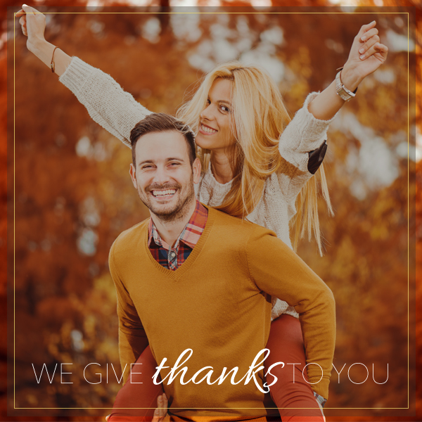 We Give Thanks to You