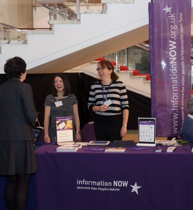 Lauren and Carol launching InformationNOW at Newcastle Civic Centre
