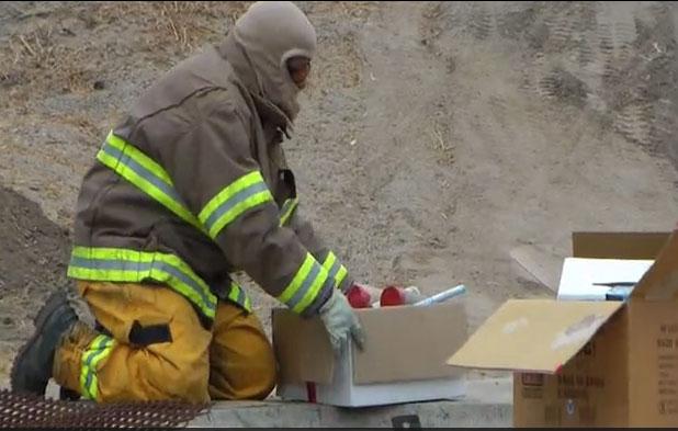 San Diego Sheriff Bomb Arson Unit disposes of illegal fireworks