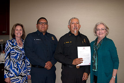 San Diego Regional Fire Foundation and SDGE provide a grant to the La Jolla Indian Fire Department for Equipment