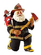 Firefighting Santa