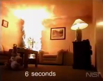 It only takes 6 seconds for a dry Christmas tree to catch your home on fire.