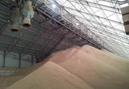E.ON UK biomass fuel processing and storage facility
