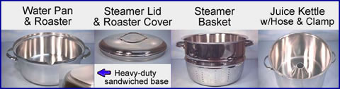 Steamer Juicer Parts