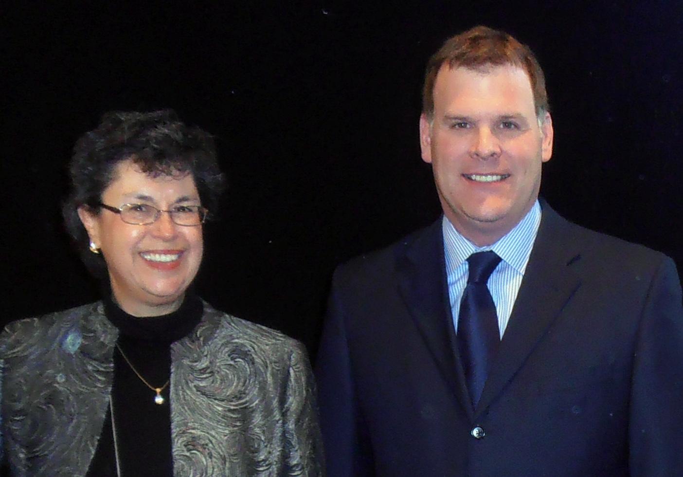 Joanne Charlebois, CASLPA's Executive Director, poses alongside the Hon. John Baird, Minsiter of Foreign Affairs