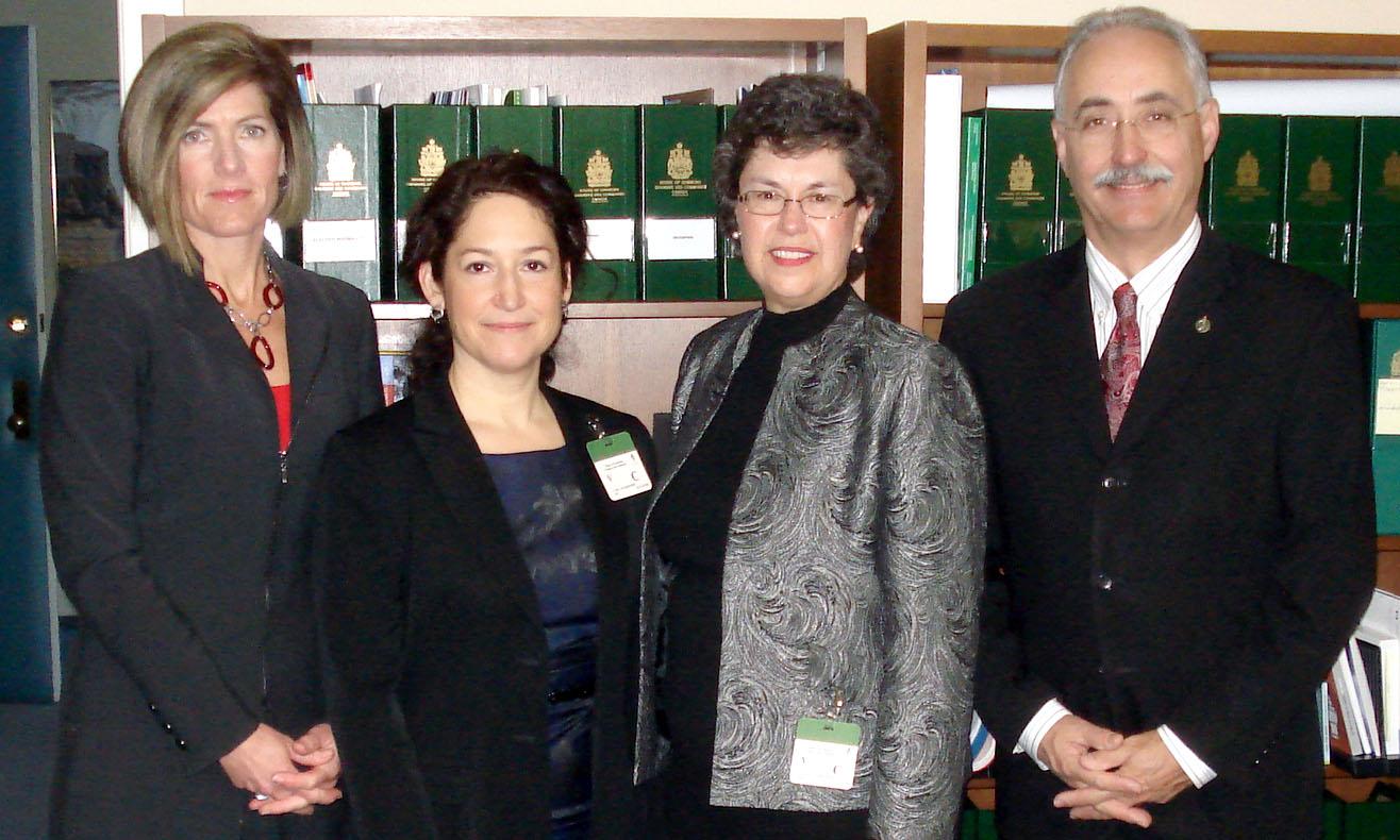CASLPA senior staff pose with Mr. Dennis Bevington, MP for Western Arctic, NWT.
