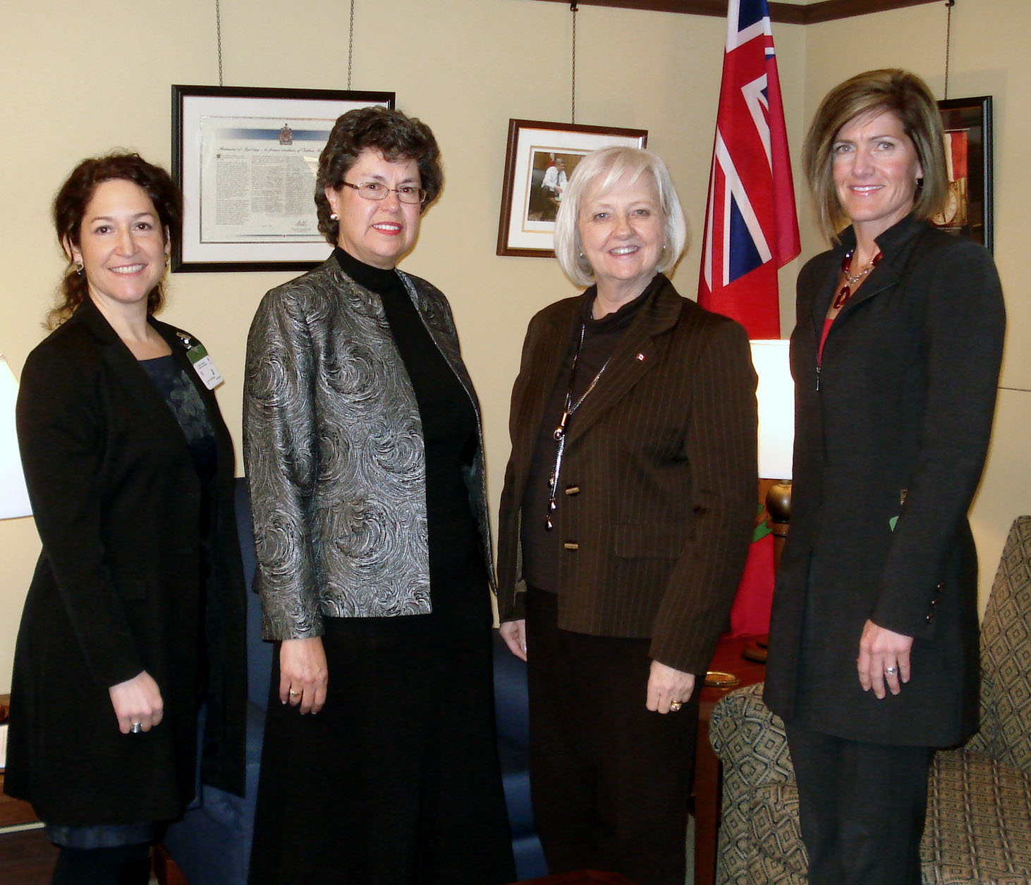 CASLPA senior staff pose with Ms. Joy Smith, MP for Kildonan – St. Paul, MB.