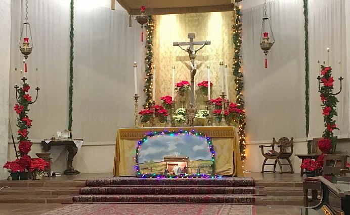 The High Altar at Christmas