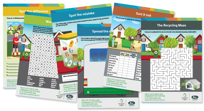 Recycle Right Recycling Worksheets