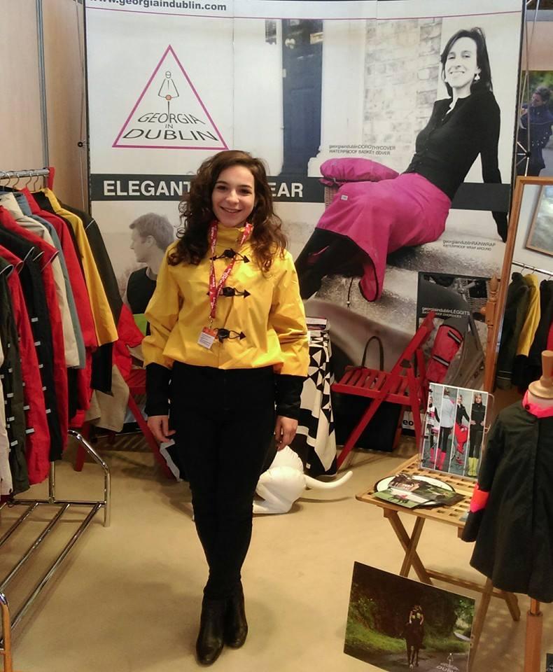 GinD Yellow Bronte rain jacket