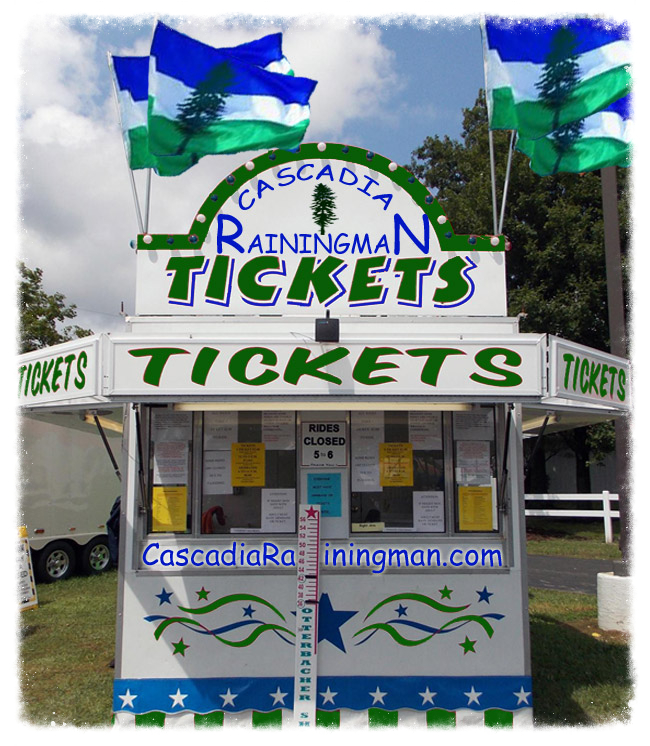 Cascadia Rainingman Ticket Booth