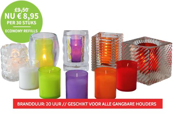Q-lights theelichten: 125 stuks voor € 6,95