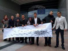 Předávání petice v Bruselu
