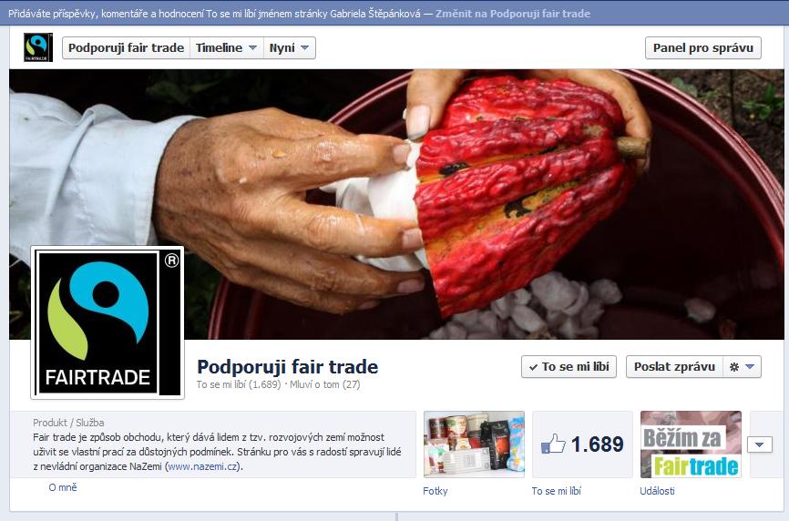 FB Podporuji fair trade