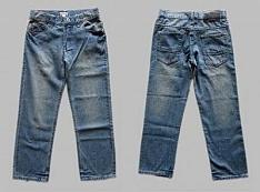 Pískované džínsy