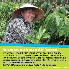 Pěstitelka fairtradové kávy