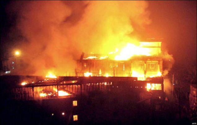 Požáry v asijských továrnách
