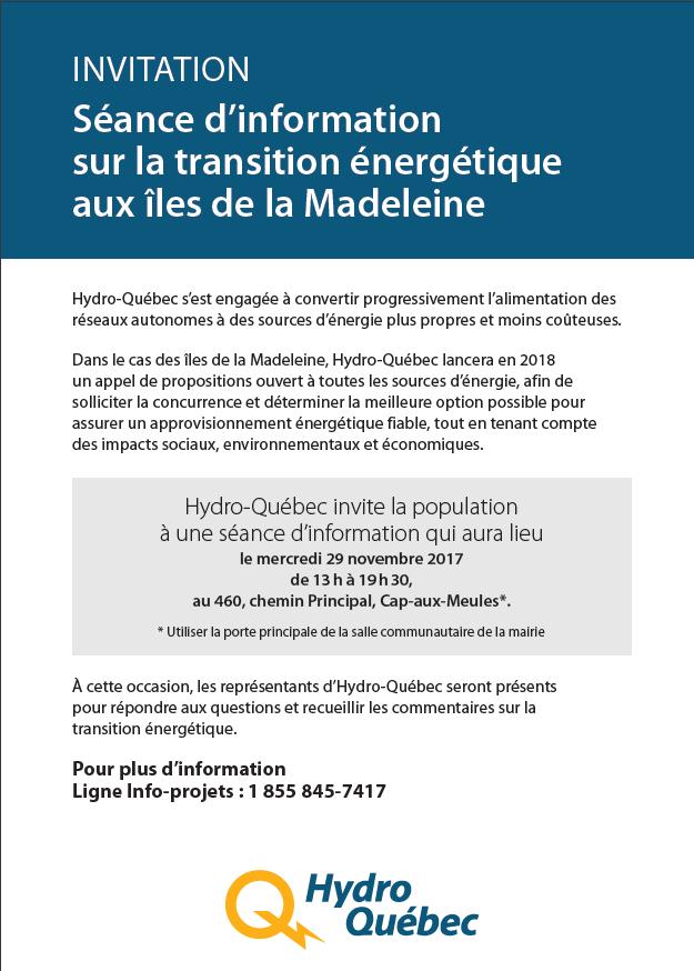 Invitation Hydro-Québec