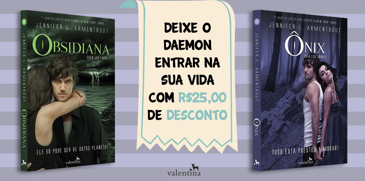 Obsidiana + Ônix com 25 reais de desconto.