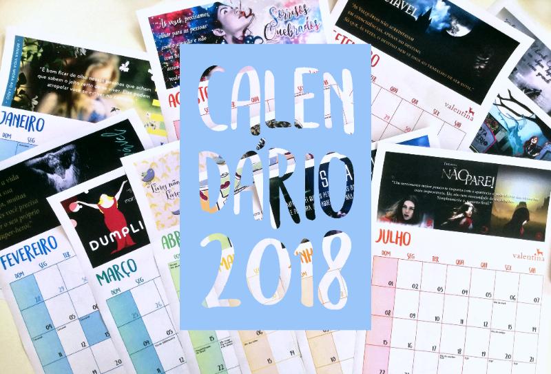 Calendário 2018 - foto
