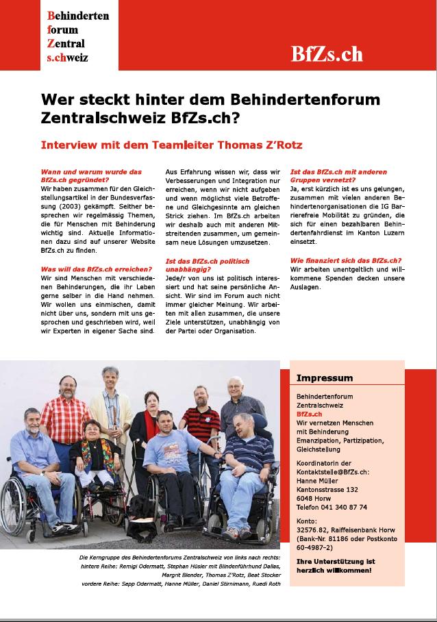 1. Flyer erschienen 2008